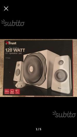 Trust casse audio potenti 120 watt per pc e tv