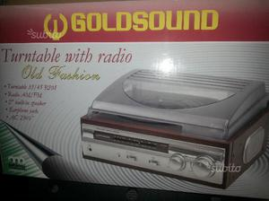 Giradischi  goldsound radio e altoparlanti