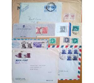 Lotto 1 di 50 Buste lettere affrancate da