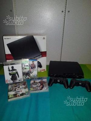 Ps3 slim 120gb+2 controller+giochi