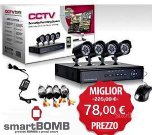 Sistema di videosorveglianza cctv hd p