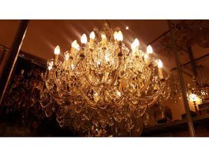 Spettacolare lampadario d'epoca Maria Teresa anni 50