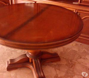 Tavolo ovale in legno massello e piede in posot class for Tavolo rotondo legno chiaro
