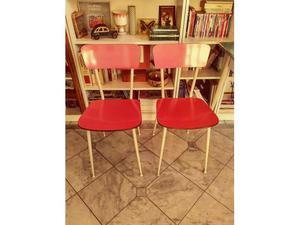 Coppia sedie in formica anni 60