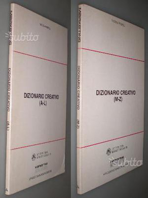 Dizionario creativo Voll.1 e 2, Nicola Piepoli, 1°