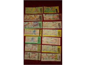 Lotto biglietti annullati torino calcio, n. 14 pezzi