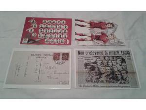 Lotto n. 4 cartoline superga filadelfia grande torino calcio