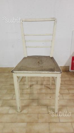 4 sedie in legno anni '50