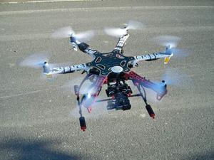 DRONE ESACOTTERO DJI F550-FUTABA 10CH-FLY SIGHT TX-NAZA
