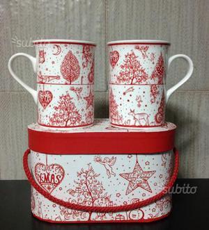 Idea regalo per Natale: tazze porcellana decorate