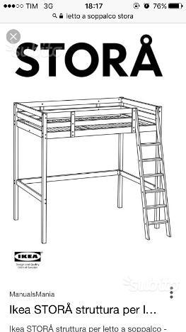 Vendo letto a soppalco ikea 1 piazza bologna posot class - Ikea letto a soppalco ...