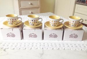 Mulino Bianco tazzine da caffè con piattino NUOVE