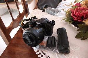 Nikon D con obiettivo vr