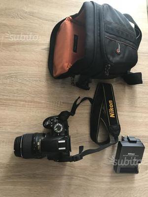 Reflex Nikon D con obiettivo  e custodia
