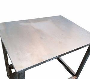 banco da lavoro in acciaio inox L 90 cm