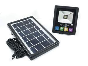 Faretto faro 6 led energia solare pannello batteria