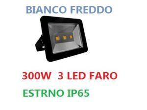 Faro faretto a led 150w watt nero ip65 da esterno con 3 led