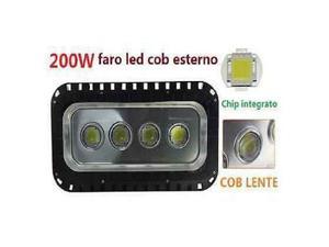 Faro led cob 200w luce bianca fredda proiettore esterno