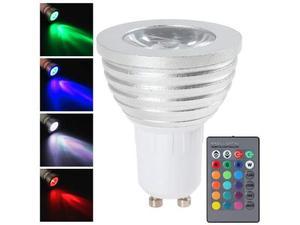 Faro rgb lampada faretto gu10 multicolore 3w led telecomando