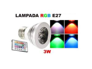 Lampadina Faretto Spot Light Led E27 3W 220V RGB multicolor