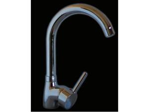 Miscelatore rubinetto monocomando per lavabo cucina acciaio