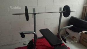 Panca + bilancere + pesi