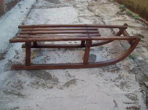 Slittino legno vintage