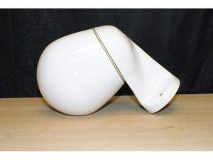 Applique anni '30 in ceramica e vetro
