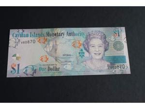 Banconota 1 Dollars isola Cayman