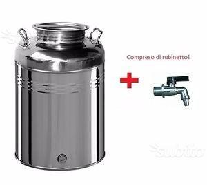 Fustino olio e vino acciaio inox + rubinetto