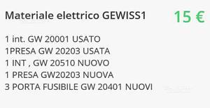 Materiale elettrico GEWISS
