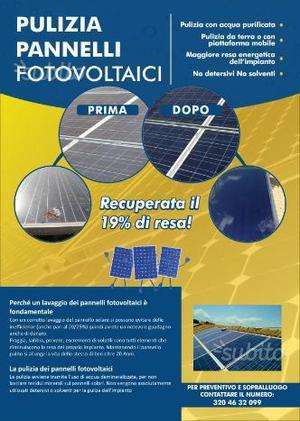 Pannelli Fotovoltaici pulizia