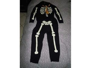 Pigiama scheletro luminoso al buio taglia L