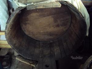 Tinozza in legno massello