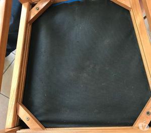 sedie in legno e pelle