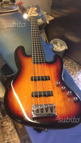Basso elettrico squier jazz bass deluxe 5