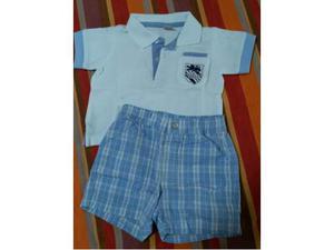 Completo Polo maglietta e calzoncini 3 / 6 mesi