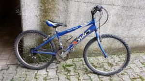 """MTB Mountain bike da 24"""" blu"""