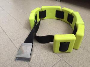Cintura per pesi con fibbia in acciaio inox + pesi