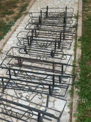 Fioriere portavasi da balcone in ferro 96 x 22 cm posot for Portavasi in ferro