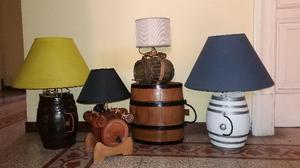LAMPADE realizzate con barilotti