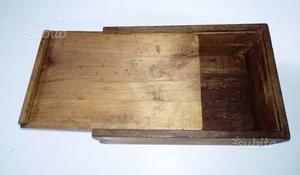 Ll 25 antica scatola in legno di noce coperchio