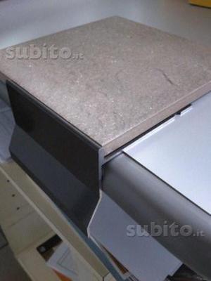Profilo gocciolatoio balcone alluminio per gres posot class - Elemento a elle piastrelle ...