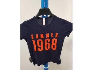 T shirt bambino sun868 blu arancione