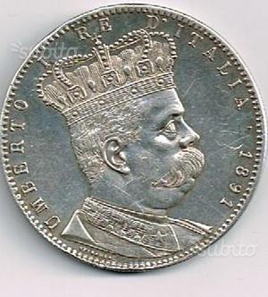 Tallero eritreo 5 lire in argento