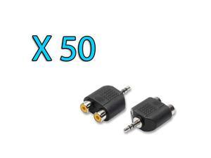 STOCK LOTTO 50 Adattatori Audio Jack 3.5mm/2x RCA
