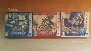 Videogiochi Pokémon rubino zaffiro e luna