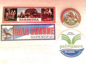 ADESIVI Sardegna stickers anni '70