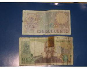 Banconota 500 e  lire