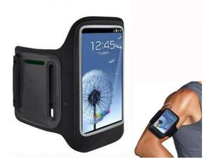 Fascia da braccio nera per smartphone (S3/S4/iP4/iP4S/iP5)